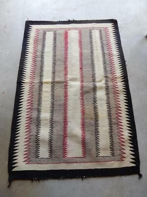 Nice Old Navajo Indian Regional Rug Vintage Antique - Great Design - Nr  !