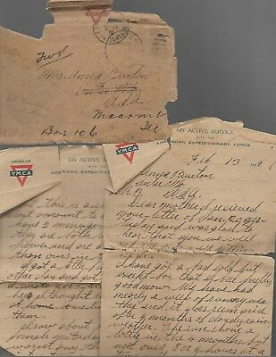 American Expeditionary Force YMCA WW1 Letter Feb 13,1919