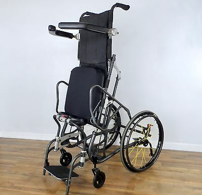 "LifeStand LS standing wheelchair, with Spinergy 24"" wheels - like levo-permobil"