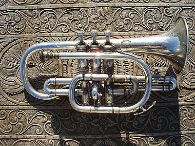 Antique Besson & Co Cornet Class A Prototype London England Vintage Instrument
