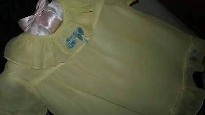 Vintage Baby Clothes,  Baby Girl Dress w slip, size 0-6 month, Beautiful SALE