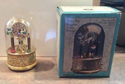 Enesco TIME FOR REPAIRS Music Box - Hickory Dickory Dock - MIB - Action Musical