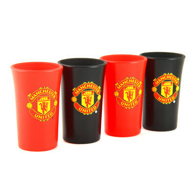 Manchester United Shot Glass 4 Pack Coloured Official Licensed Football Product