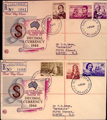 1966 Navigators: 2  Scarce   Registered First Day Covers    No  Reserve!!!