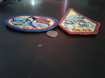 "2 New Patches, Vfa-106 ""gladiators"" Class Patches  Fa-18 Superhornet Squadron"