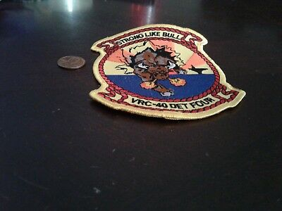 "Vrc-40 ""rawhides"" Det 4 Med Cruise Deployment Patch C-2 Greyhound Squadron"