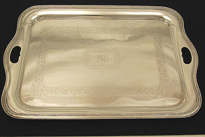 FINE LARGE ART DECO SILVER PLATE SERVING TRAY by ELLIS- BARKER 25""