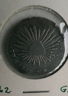 ☆☆ MEXICAN 2 REALES 1862 Go ☆☆