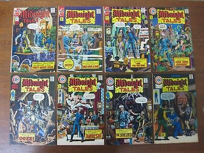 MIDNIGHT TALES LOT OF 8 BOOKS - #'s 1, 4, 5, 6, 7, 8, 9 & 14 - MOSTLY VF - NICE!