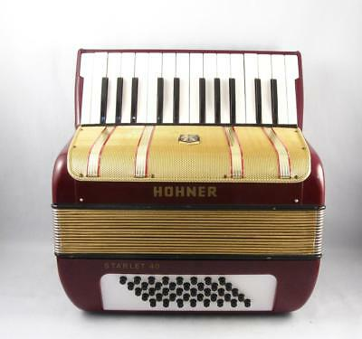 Vintage Hohner Starlet 40 Bass Accordion W/ Case