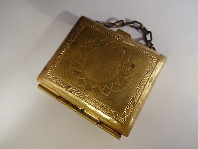 Neat Older Small Vintage Gold-tone Metal Coin Purse