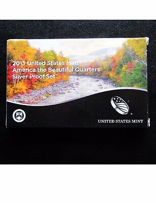 2013-S UNITED STATES MINT America the Beautiful Quarters SILVER Proof Set 25c