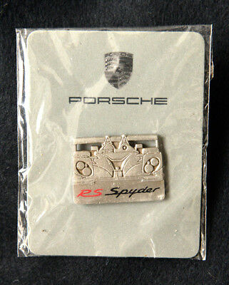 Porsche Official Rs Spyder Silver Race Car Lapel Pin