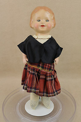 "14"" old antique German tin metal head toddler doll with sleepy eyes"