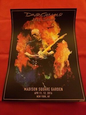 RARE David Gilmour Tour 2016 Rattle That Lock MSG NY April 11,12-Poster #265/600