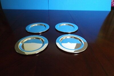 Vintage Silver Plated Small Dessert Plates Set Of 4 6'' In Diameter