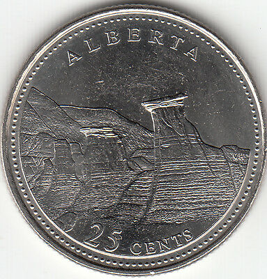 1992 Alberta Commemorative 25-cents UNC from Roll