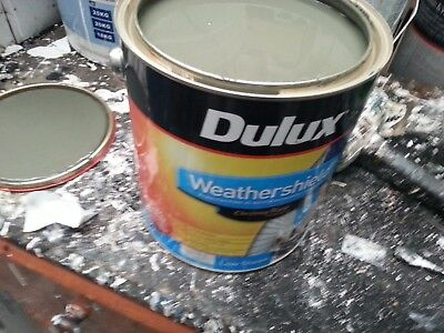 Dulux 4 Litre Weathershield Exterior Low/sheen Greeny-Grey Color Paint