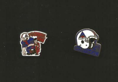 """Pins Cfl: Montreal Alouettes, Lot Of 2, Cfl Football, 1"""", Metal, Color, Ace Taiw"""