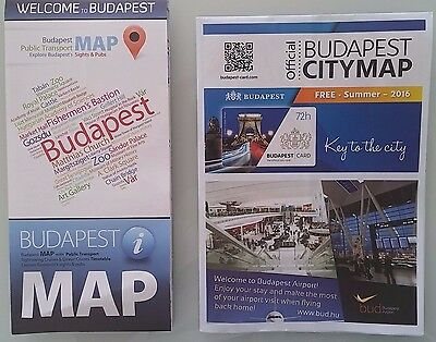 2 Budapest Maps 2016 Official City Maps with Public Transport Sightseeing Cruise