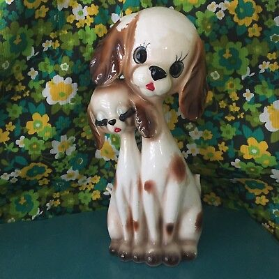 Kitsch Vintage Cute Ceramic Dogs Made In Japan