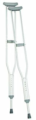 Carex Health Brands A975C0 Push Button Aluminum Crutches Tall