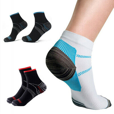 1Pair Men Women Compression Support Socks Foot Anti Fatigue Plantar Arch Support