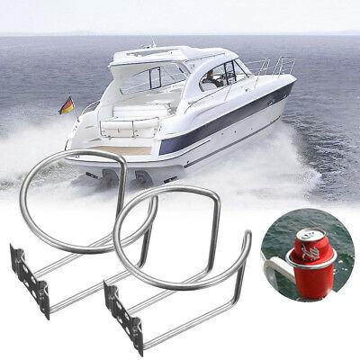 2pc Stainless Steel Boat Ring Cup Drink Holder For Marine Yacht Truck RV-Silver
