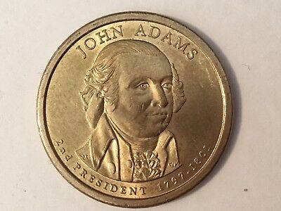 2007D  John Adams. US Presidential dollar coin.