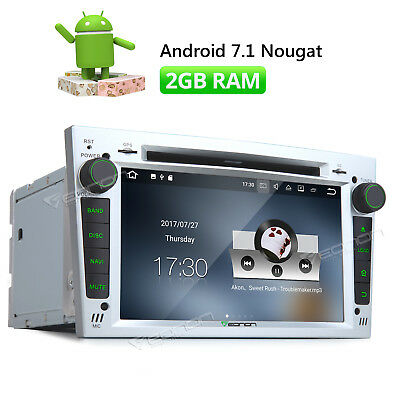 Android 7.1 Silver Car Stereo GPS DVD HDMI AUX USB/SD For Opel/Vauxhall/Holden E
