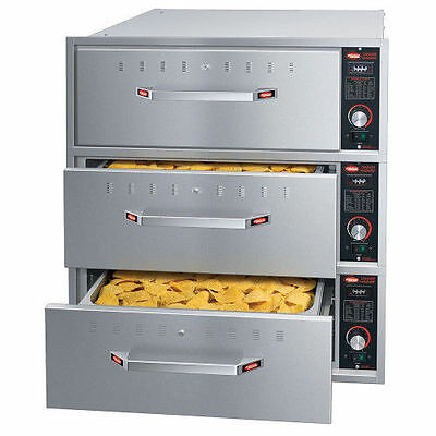 """Hatco HDW-3BN Built-In Narrow Warming Drawer with 3 Drawer and 6"""" Deep Food Pan"""