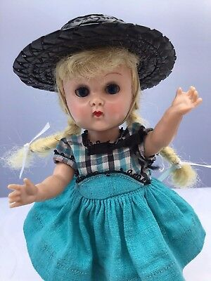 Vintage Vogue Ginny SLW ML in Tiny Miss 1955  #41 Complete but Hat not perfect
