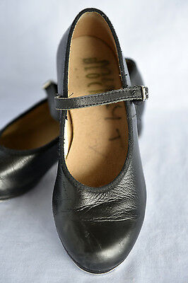 BLOCH Black Leather Tap dance shoes. Size 4 (Bloch) VGC