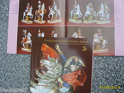 CATALOG Scheibe Alsbach Porcelain Figurine General Catalogue Napoleon Soldier