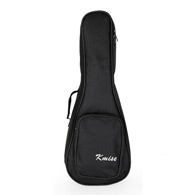 Kmise Tenor Ukulele Gig Bag 26 inch Nylon Padded Black for 4 String Ukelele