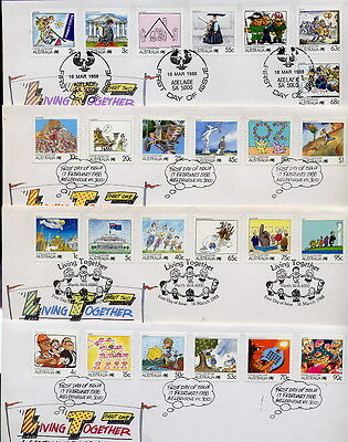 `living Together'   First Day Covers  (4)  New   &  Very Cheap
