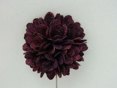 Silver Stemmed Lapel Pin - Purple/Black