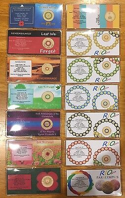 $2 Commemorative Coin Flips X 14 Full Set (No Coins)