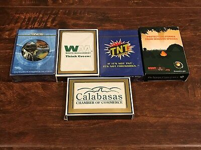 lot of 5 unique decks of playing cards --- new & sealed