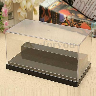 "5.9"" Clear Acrylic Display Box Case Plastic Dustproof Protection Toy 2 Steps"