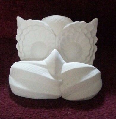 ceramic bisque Owls Head. Approx 110 mm Wide. To Paint or glaze