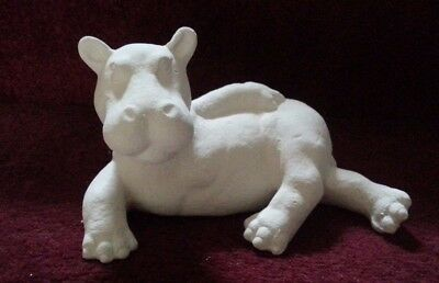 ceramic bisque Hippo. Approx 120 mm Long. To Paint or glaze