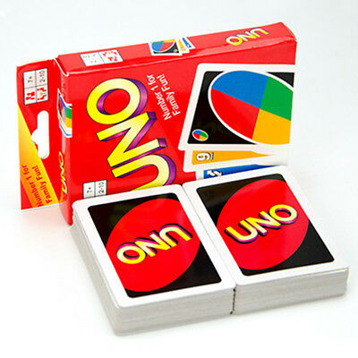 Standard UNO Card Game Family Children Friends 108 Playing Funny Cards