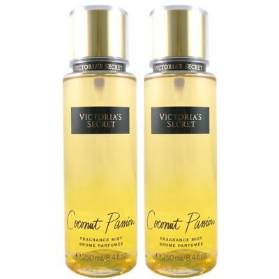 Victoria Secret Fantasies 2 x Coconut Passion 250 ml Body Mist Körperspray Set