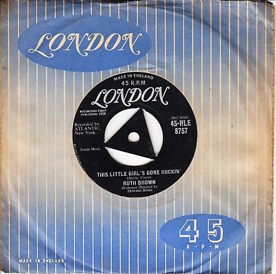Ruth Brown 1958 Tri Uk London *this Little Girl's Gone Rockin'/ Why Me* R & R