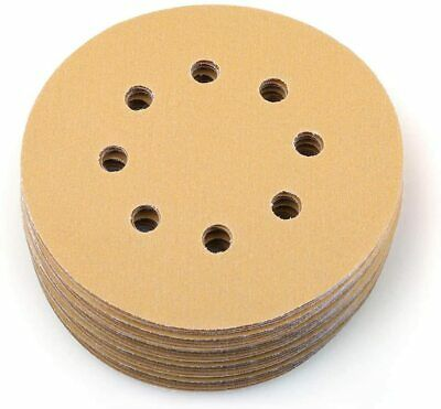 5in 180 Grit Sanding Discs Random Orbital Hook Loop Sandpaper Round Sheet Pad