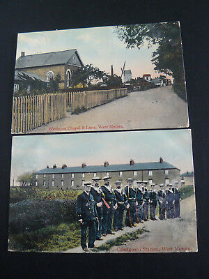 Coastguard Station West Mersea Postcard & Wesleyan Chapel & Lane West Mersea