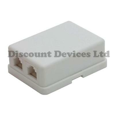 Phone Surface Wall Socket RJ11 6p4c Socket CAT.3 Socket