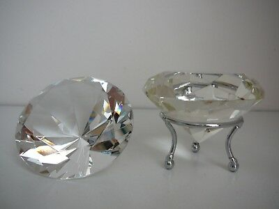 Crystal Diamond ornaments with Stand Unusual Pretty