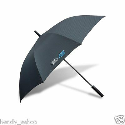 New! Genuine Ford Rs Golf Umbrella Carbon Effect New Release 35020388